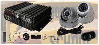 BundleBus4IB; 4 Camera SCHOOL BUS BUNDLE D4SB-P HD DVR, 3ea CTOI 960P AHD Turret Cameras, 3ea Microphones, 1ea CW AHD Windshield Camera, 64 GB SD XC Card, All Cables & Install Kit