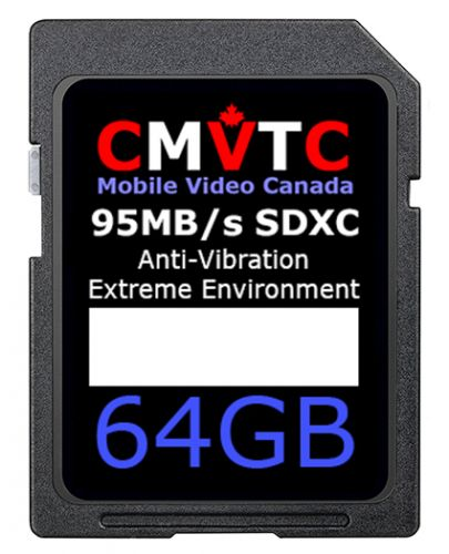 64GBSD; 64GB SD XC U3 C10 High Vibration SD Card for Commercial Environments